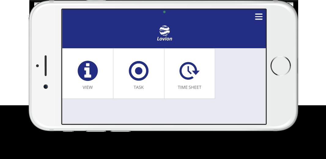 iPhone mit Lovion APP Home-Screen