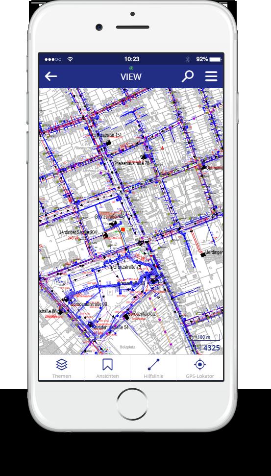 iPhone mit Lovion VIEW APP