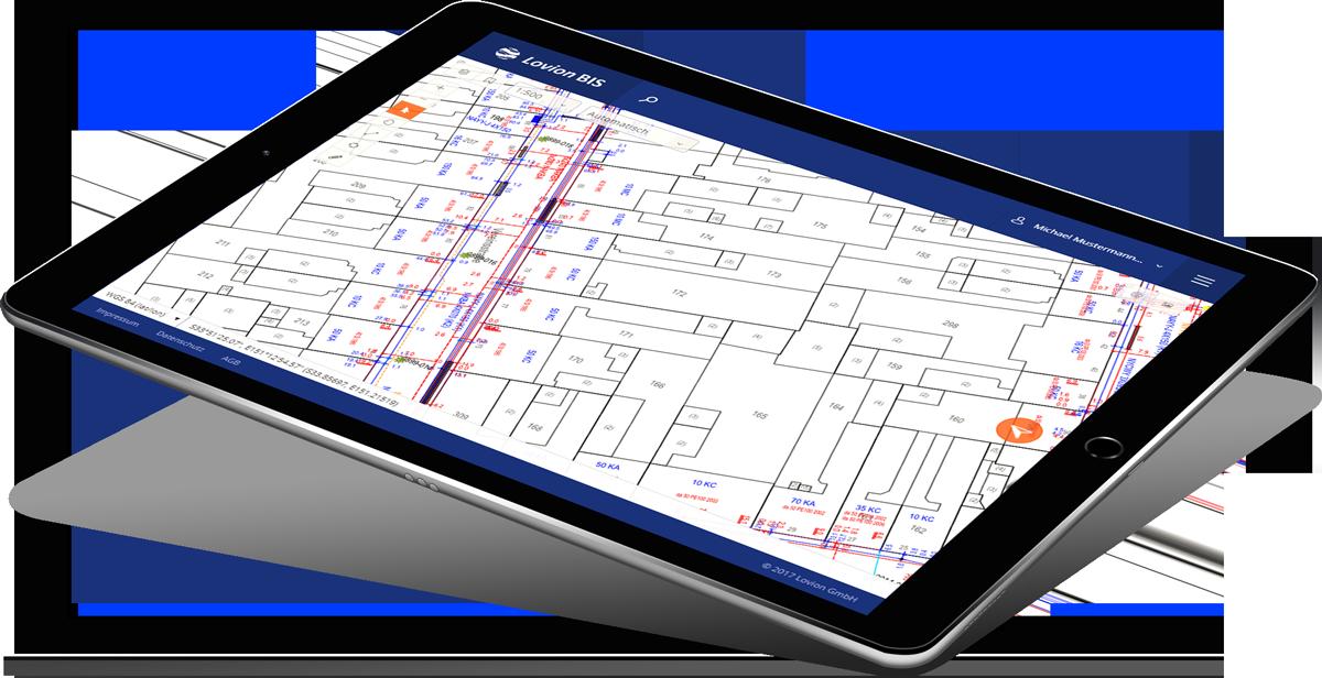 iPad mit Lovion VIEW PORTAL
