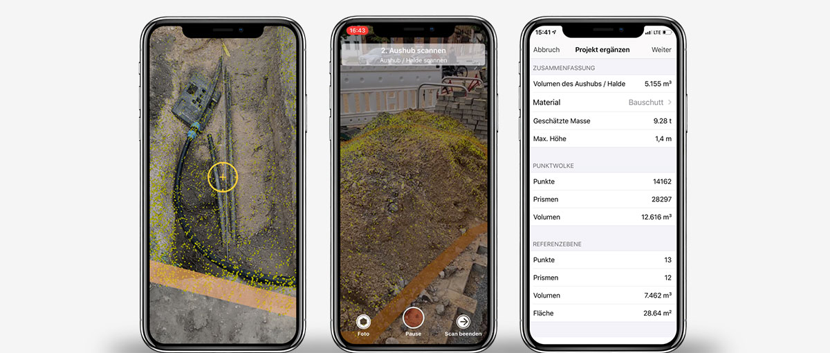 Screenshot mit Features