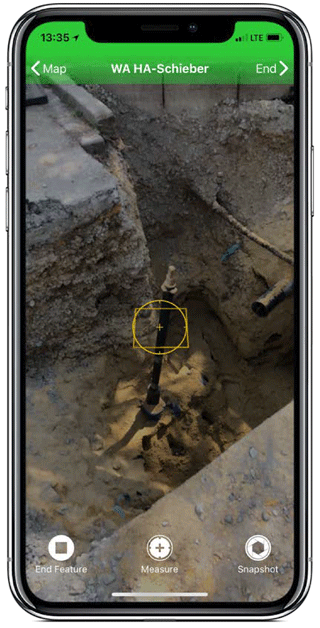 Screenshot MEASURE APP Augmented Reality